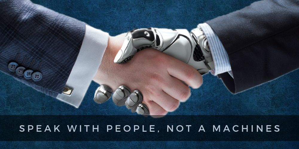 Speak with the People, Not a Machines