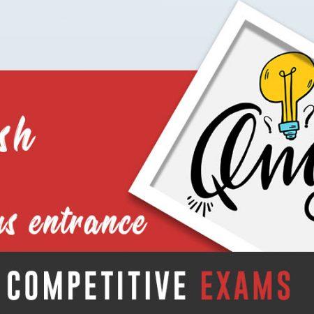 English Grammar Course for Various Entrance / Competitive Exams